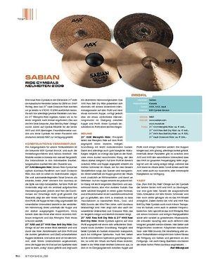 Sticks Sabian Ride Cymbals Neuheiten 2009
