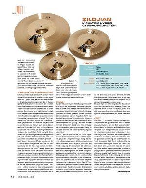 Sticks Zildjian K Custom Hybrid Cymbal-Neuheiten