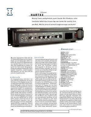 Gitarre & Bass Hartke LH1000, Bass-Top