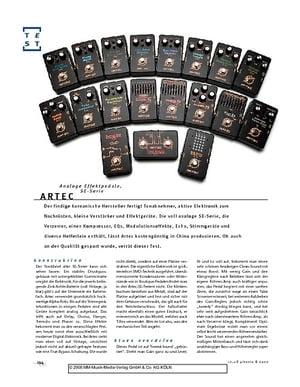 Gitarre & Bass Artec SE-Serie, analoge Effektpedale