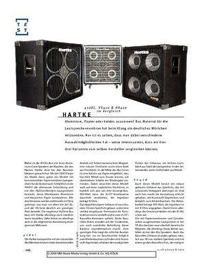 Gitarre & Bass Hartke 410XL, VX410 & HX410  Boxen im Vergleich