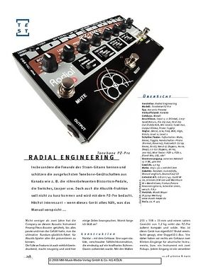 Gitarre & Bass Radial Engineering Tonebone PZ-Pre, A-D.I./Preamp