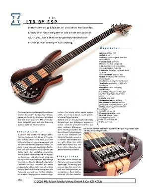 Gitarre & Bass LTD by ESP B-5E, E-Bass