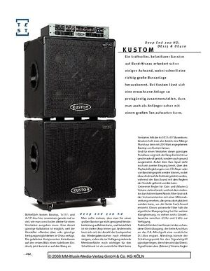 Gitarre & Bass Kustom Deep End 200 HD, DE115 & DE410, Bassanlage