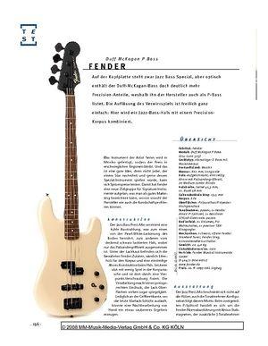 Gitarre & Bass Fender Duff McKagan P Bass