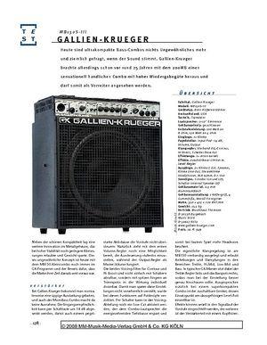 Gitarre & Bass Gallien-Krueger MB150S-III, Bass-Combo