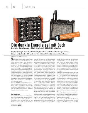 Keyboards Doepfer Dark Energy - Mini-Synth mit USB/MIDI-Interface