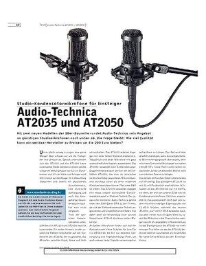 Sound & Recording Audio-Technica AT2035 und AT2050