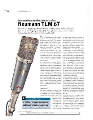 Sound & Recording Neumann TLM 67