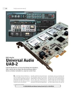 Sound & Recording Universal Audio UAD-2