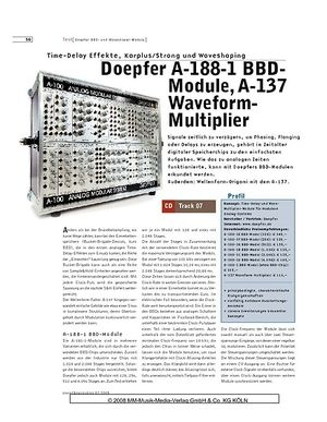 Sound & Recording Doepfer A-188-1 BBDModule, A-137 Waveform Multiplier
