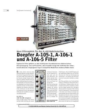 Sound & Recording Doepfer A-105-1, A-106-1 und A-106-05 Filter
