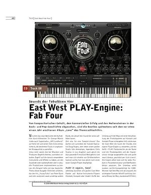 Sound & Recording East West PLAY-Engine: Fab Four