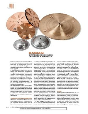 Sticks Sabian Diamondback Chinese, Choppers & Alu Bells