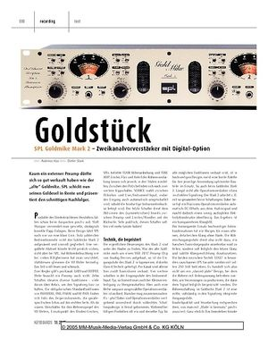 Keyboards SPL Goldmike Mark 2