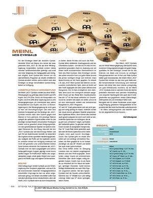Sticks Meinl HCS Cymbals