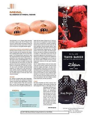 Sticks Meinl Classics Cymbal-News