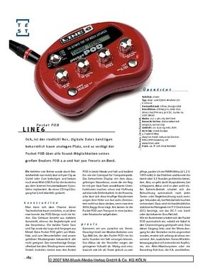 Gitarre & Bass Line6 Pocket POD, Hosentaschen-Modeler