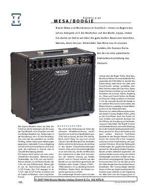Gitarre & Bass Mesa/Boogie Express 5:50, Gitarren-Combo