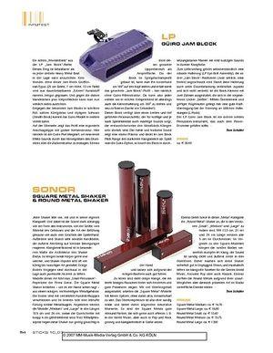 Sticks Sonor Square Metal Shaker & Round Metal Shaker