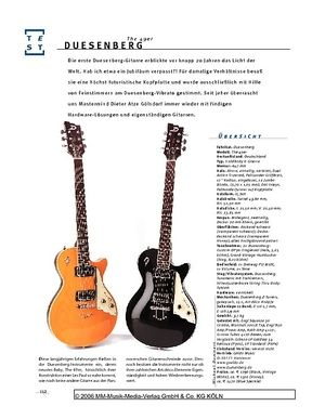 Gitarre & Bass Duesenberg The 49er, Solidbody-E-Gitarre