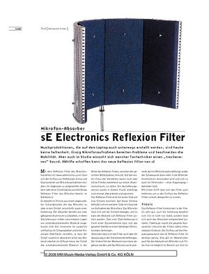 Sound & Recording sE Electronics Reflexion Filter