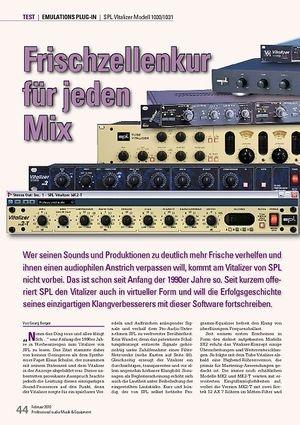 Professional Audio Frischzellenkur für jeden Mix: SPL VItalizer