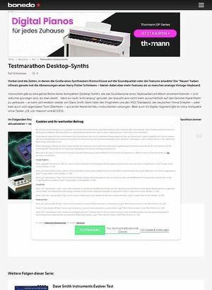 Bonedo.de Test Marathon Desktop-Synths