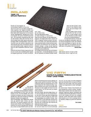 Sticks Roland TDM-10 Drum-Teppich