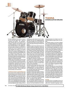 Sticks Tama Imperialstar Drums
