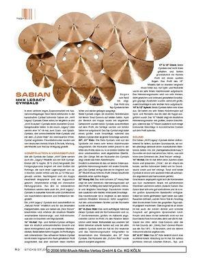 Sticks Sabian HHX Legacy Cymbals