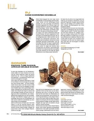 Sticks Sonor Caxixis, Tube Caxixis, african Double Shaker