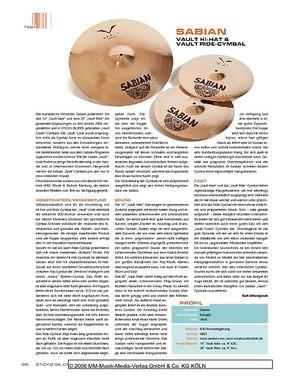 Sticks Sabian Vault Hi-Hat & Vault Ride-Cymbal