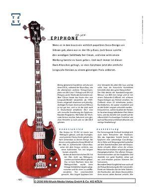 Gitarre & Bass Epiphone EB-3CH, Solidbody-E-Bass