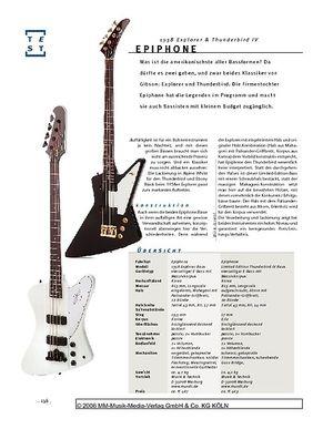 Gitarre & Bass Epiphone 1958 Explorer & Thunderbird IV, E-Bässe