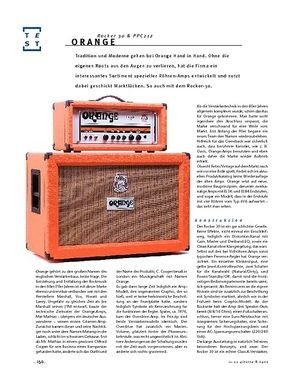 Gitarre & Bass Orange Rocker 30 & PPC212, Quarterstack