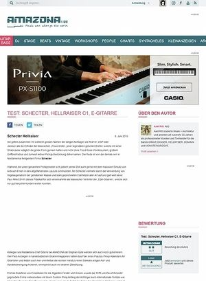 Amazona.de Test: Schecter, Hellraiser C1, E-Gitarre
