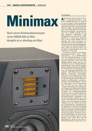 Professional Audio Minimax: ADAM A3X