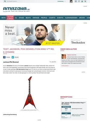 Amazona.de Test: Jackson, PDX Demmelition King V™ RD, E-Gitarre