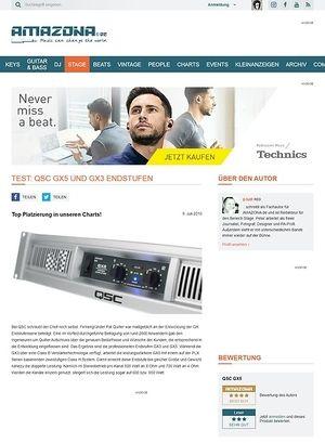 Amazona.de Test: QSC Endstufe GX5