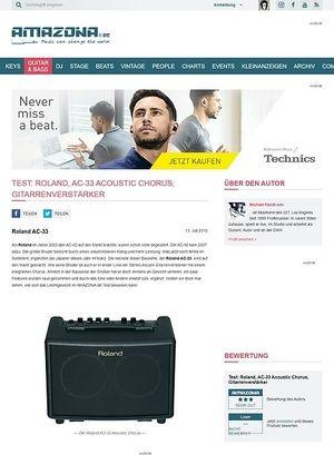 Amazona.de Test: Roland, AC-33 Acoustic Chorus, Gitarrenverstärker