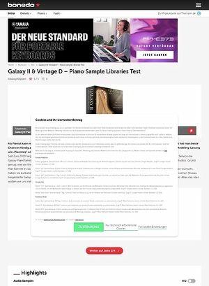 Bonedo.de Galaxy II und Vintage D
