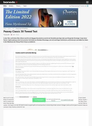 Bonedo.de Peavey Classic 30 Tweed