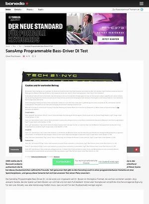 Bonedo.de Tech21 SansAmp Bass-Driver DI