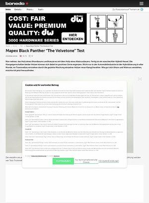 Bonedo.de Mapex Black Panther The Velvotone