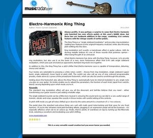 MusicRadar.com Electro-Harmonix Ring Thing