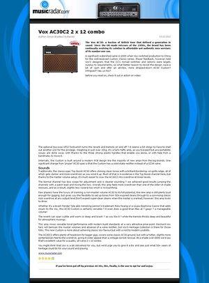 MusicRadar.com Vox AC30C2 2 x 12 combo