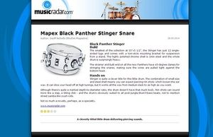 MusicRadar.com Mapex Black Panther Stinger Snare