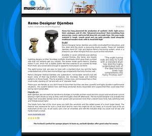 MusicRadar.com Remo Designer Djembes