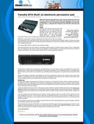 MusicRadar.com Yamaha DTX-Multi 12 electronic percussion pad